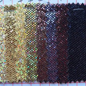 Обувь решений ткань Блестящие цветные лаки PU кожа для сандалии HW-1772
