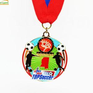 Venta de la parte superior de la medalla de metal para la graduación con logotipo personalizado, coloridas 3D Deporte medalla para su evento