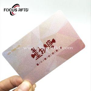 Hf RFID colorida Tarjeta de Miembro de la tarjeta de banda magnética con tamaño personalizado