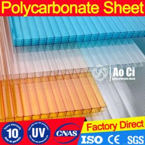 Parede dupla Folha oca de policarbonato fosco com protecção UV