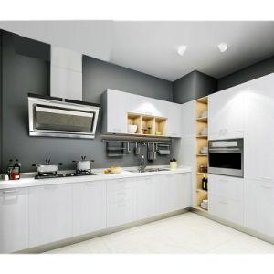 Luxury Antique Soild Cinza armário de cozinha de madeira