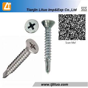 DIN7981p 필립스 편평한 위쪽을 넓힌 편평한 맨 위 아연 각자 훈련 두드리는 나사
