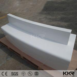 人工的な石によって曲げられる固体表面のレセプションのカウンター