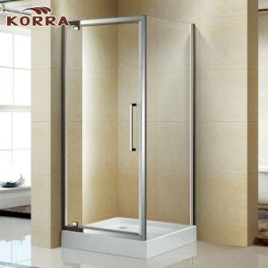 Cabine de douche à angle pivotant de salle de bain avec base de douche