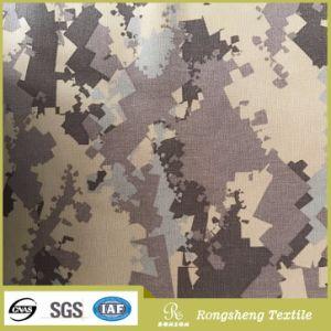 China poliéster textil tejido Windproof Softshell impermeable de impresión tejido del Ejército de Corea