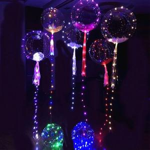 Weihnachten und heller aufblasbarer transparenter Bobo Ballon der Halloween-Dekoration-LED