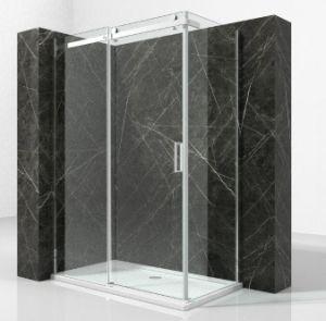 Emoldurados cromada fabricante do gabinete de chuveiro em vidro transparente e bandeja de 1200x800