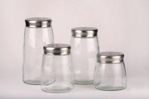 زجاجيّة قهوة سكر شاش تخزين مرطبان مجموعة