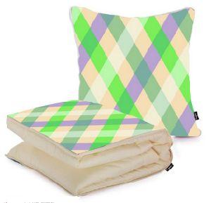 100% полиэстер поездки одеяло и подушку с малым проекционным расстоянием 2 в 1