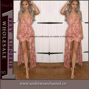 Impreso de verano de moda trajes de baño Sexy largos vestidos Maxi chica romper