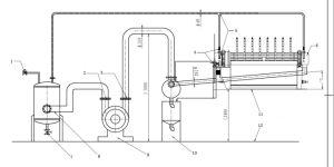 Alta eficiência Pgt /a sucção de ar/ Filtro de vácuo do disco de metal/Nonmetal sólidos/Separação de pasta de Carbono/desidratação de lamas