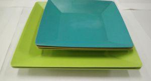 La vaisselle biodégradable naturel Eco Friendly Fibre de bambou assiette à dîner
