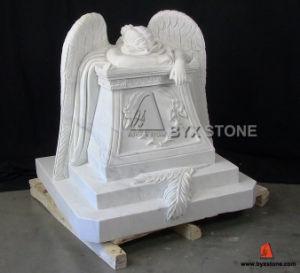 Het Huilen van China het Witte Marmeren Snijdende Monument van de Engel