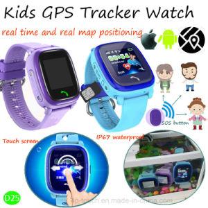 IP67 waterdicht GPS van Jonge geitjes Horloge met Bidirectionele Communicatie Vraag (D25)
