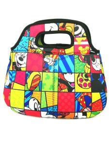 Belle Rainbow sac à lunch colorés pour Office Lady ou Shool