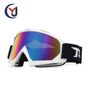 Soem-Entwurf Objektiv-MX-Motorrad-Gebirgsfahrrad-Schutzbrillen der kundenspezifischer Camo TPU flexibler Doppelrahmen-blaue Beschichtung-UV400