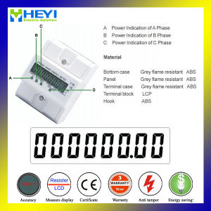 100A трехфазный 4pole LCD силы монитор метра Kwh рельса DIN