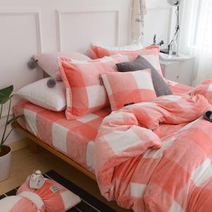 China Fornecedor flanela de coral do Velo de cama de folhas configurado