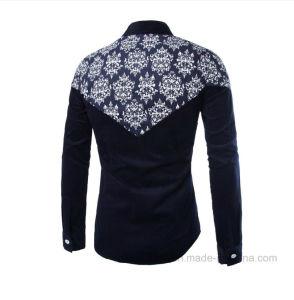 Оптовая торговля зимой Auntumn теплый мужчин твердых Фланелевая рубашка