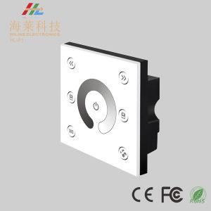12-24 V DC LED de gradation de couleur unique à la mode du contrôleur de panneau tactile