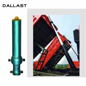 덤프 트럭 트레일러를 위한 단 하나 임시 다단식 망원경 액압 실린더