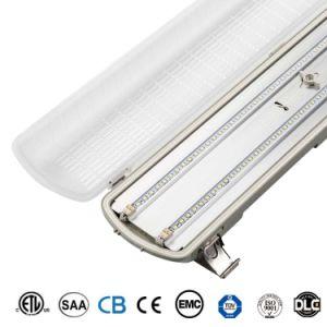 Almacén de la prueba de humedad de la batería de emergencia Luminaria LED IP65 de la Bahía de alta planta alimenticia Accesorio de iluminación LED lineal de 4 pies de la luz Triproof