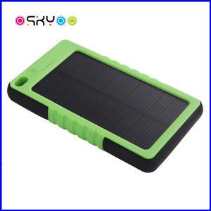 Logotipo personalizado 5000mAh batería externa portátil resistente al agua la energía solar
