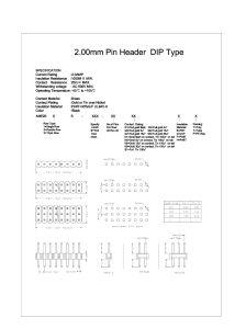 Pinos de Pitch 2,0mm tipo DIP 26o pin da série S