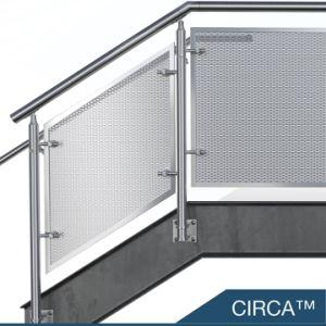 Copo de aço inoxidável interior balaustrada corrimãos da escada