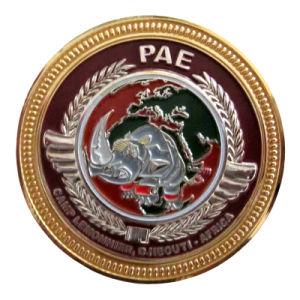 金属ビジネスギフトのカスタムSilver&Goldの金属のエナメルの硬貨(206)