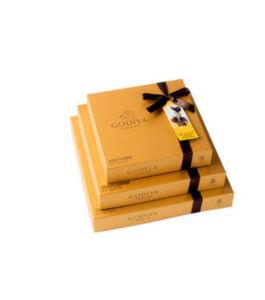 Color dorado Apearence lujo Caja de regalo de la fabricación de chocolate
