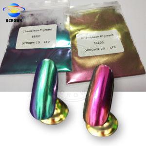 Espelho de camaleão de pó de unhas cromado Colorshift pigmento para as unhas