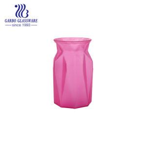 Розовый цвет дешевые стекла ваза цветов (ГБ1572DZ-P)
