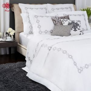 Hotel bordadas conjunto de roupa de cama de algodão puro Percale