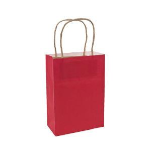 Commerce de gros achats de papier cadeau Kraft rouge sac de papier ordinaire (YH-PGB006)