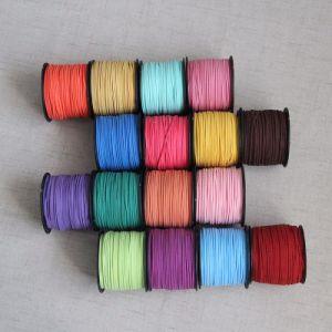 Красочные шнур из натуральной кожи Мягкий велюр кружева плоской круглой резьбой String судов