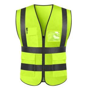 Colete de segurança reflexivo de alta visibilidade com o logotipo personalizado colete de tráfego do vestuário de protecção