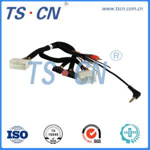Т-образный жгут проводов Hyundai-2RCA+3.5мм жгута проводов автомобильной аудиосистемы индивидуального автомобильного кабеля