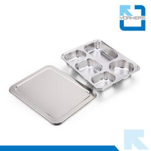 5 Compartiments de haute qualité en acier inoxydable de la plaque de bacs Bac alimentaire sous forme de buffet