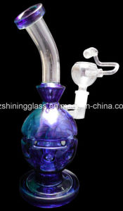 Narghilé di vetro del tubo di acqua di disegno di scheletro del cranio di colore della vernice di spruzzo per fumare