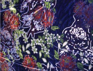 Nouveau tissu de velours de soie/rayonne, tissu de velours, burn out tissu velours