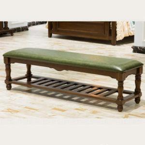 寝室の家具As833のための米国式の固体木のベッドのベンチ