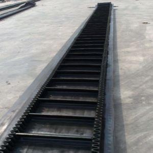 Venta caliente pared corrugado cinta transportadora de ángulo de inclinación pronunciada