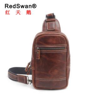 Red Swan designer de moda a linga de couro Airbag torácico do homem (RS-2028)