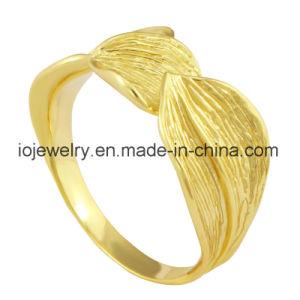 Nam de Goud Geplateerde Eenvoudige Ring van het Ontwerp voor Mensen toe