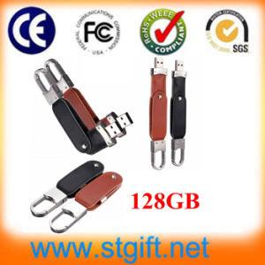 Оптовая торговля поворотный драйвер USB 2.0 коричневый кожаный USB флэш-памяти