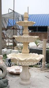 De eenvoudige Fontein van het Water van de Tuin van de Stijl Marmeren