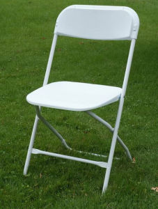 Outdoor Party를 위한 백색 Metal Frame Beach Folding Chairs