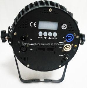 屋内DMX平らなLEDの同価は結婚披露宴のための1の12X10W RGBW 4をつけることができる