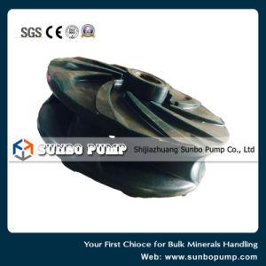 Bomba centrífuga de papilla resistencia a la corrosión de la bomba de piezas de repuesto forrado de goma